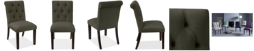 Skyline Darah Tufted Rollback Dining Chair, Quick Ship