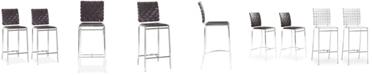 Zuo Criss Cross Counter Chair, Set of 2
