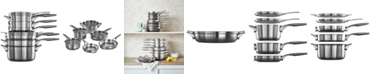 Calphalon Premier 10-Pc. Space-Saving Stainless Steel Cookware Set