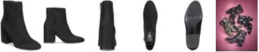 Bar III Gatlin Block-Heel Booties, Created for Macy's
