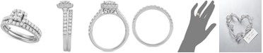 Macy's Star Signature Diamond Princess Cut Halo Bridal Set (1-1/2 ct. t.w.) in 14k White or Yellow Gold