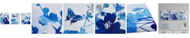 JLA Home Madison Park Cobalt Garden 3-Pc. Gel-Coated Canvas Print Set