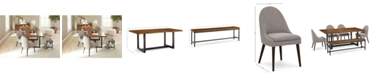 Furniture Everly Dining Furniture, 6-Pc. Set (Table, 4 Round Back Side Chairs, & Bench), Created for Macy's