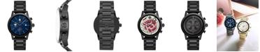 Tory Burch Women's Gigi ToryTrack Black Stainless Steel Bracelet Touchscreen Smart Watch 40mm