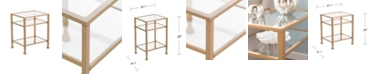 Southern Enterprises Brookford Gold Metal And Glass End Table