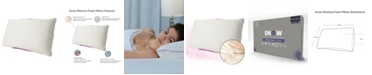 Protect-A-Bed Queen Therm-A-Sleep Snow Memory Foam Firm Pillow ft. Nordic Chill Fiber and Tencel