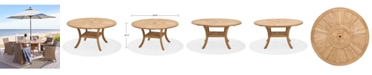 Furniture San Andres Teak Lazy Susan Outdoor Dining Table, Created For Macy's