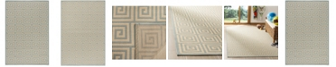 "Safavieh Linden Cream and Aqua 5'1"" x 7'6"" Area Rug"