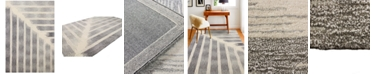 """BB Rugs Downtown HG370 Ivory/Gray 2'6"""" x 8' Runner Area Rug"""