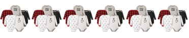 Hudson Baby Long-Sleeve Bodysuits, 5-Pack, Penguin, 0-24 Months