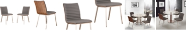 Armen Living Cafe Dining Chair (Set of 2), Quick Ship
