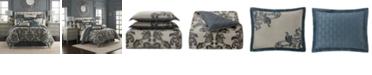 Waterford Everett Teal Reversible Queen 4 Piece Comforter Set
