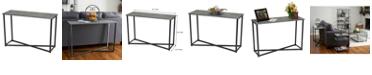Household Essentials Slate Faux Concrete Sofa Table