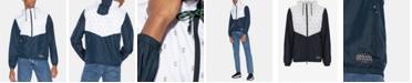 A|X Armani Exchange Men's Hooded Logo Windbreaker