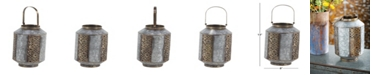 Rosemary Lane Rustic Metal Candle Lantern