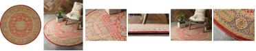 Bridgeport Home Wilder Wld2 Red 8' x 8' Round Area Rug