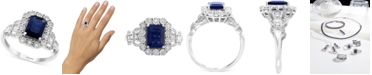 EFFY Collection EFFY® Sapphire (1-1/2 ct. t.w.) & Diamond (1/3 ct. t.w.) Statement Ring in 14k White Gold