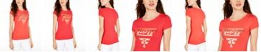 GUESS Crew-Neck Metallic-Graphic T-Shirt