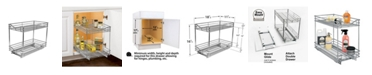 Lynk Professional 2 Tier Sliding Under Cabinet Organizer