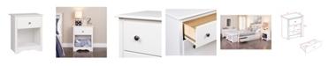 Prepac Monterey 1-Drawer Tall Nightstand