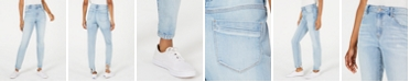 Rewash Juniors' Ripped-Hem High-Rise Jeans