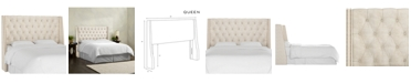 Skyline Queen Nail Button Tufted Wingback Headboard
