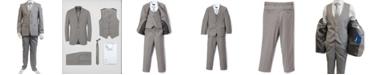 Perry Ellis Boy's 5-Piece Shirt, Tie, Jacket, Vest and Pants Solid Suit Set