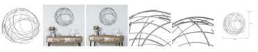 Luxen Home Abstract Iron Sticks Round Wall Decor