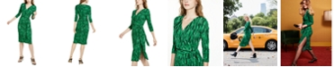 INC International Concepts INC Petite Printed Faux-Wrap Dress, Created for Macy's