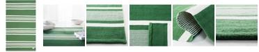Lauren Ralph Lauren Hanover Stripe LRL2461B Green 4' X 6' Area Rug