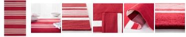 Lauren Ralph Lauren Hanover Stripe LRL2461D Red 4' X 6' Area Rug