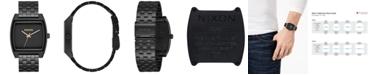 Nixon Men's Time Tracker Black Stainless Steel Bracelet Watch 37mm