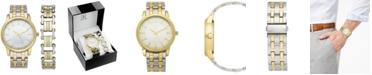 INC International Concepts INC Men's Two-Tone Bracelet Watch 42mm & Matching Bracelet Set, Created for Macy's