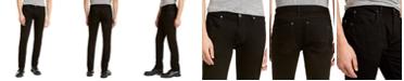INC International Concepts INC Men's Slim, Straight Deep Black Jeans, Created For Macy's