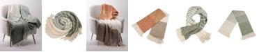 Glitzhome Woven Acrylic Striped Jacquard Throw