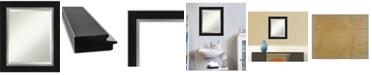 "Amanti Art Eva Silver-tone Framed Bathroom Vanity Wall Mirror, 21.25"" x 25.25"""