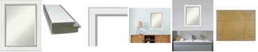 "Amanti Art Eva Silver-tone Framed Bathroom Vanity Wall Mirror, 23.25"" x 29.25"""