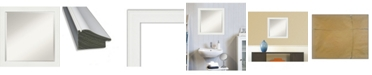 "Amanti Art Vanity Framed Bathroom Vanity Wall Mirror, 23.38"" x 23.38"""