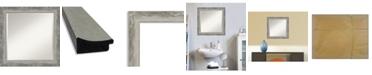 "Amanti Art Waveline Silver-tone Framed Bathroom Vanity Wall Mirror, 24.38"" x 24.38"""