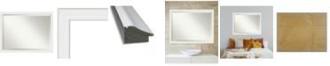 "Amanti Art Vanity Framed Bathroom Vanity Wall Mirror, 43.38"" x 33.38"""