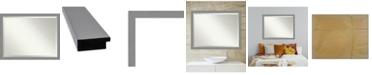 "Amanti Art Brushed Framed Bathroom Vanity Wall Mirror, 43.5"" x 33.50"""
