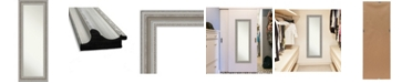 "Amanti Art Parlor Silver-tone on The Door Full Length Mirror, 19.5"" x 53.50"""