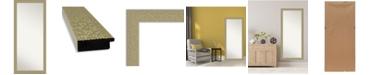 "Amanti Art Mosaic Gold-tone Framed Floor/Leaner Full Length Mirror, 28.25"" x 64.25"""