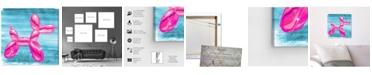 "Oliver Gal Balloon Dog Pink Canvas Art, 12"" x 12"""