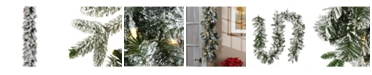 National Tree Company 9 ft. Iceland Fir Garland with Battery Operated LED Lights