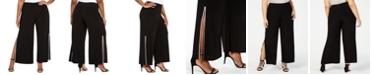MSK Plus Size Rhinestone Side-Slit Pants