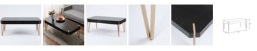 Luxen Home Wood And Metal Coffee Table