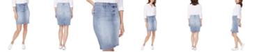 NYDJ Denim Snap-Waist Skirt