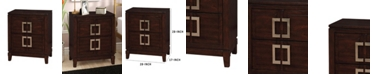 Benzara Transitional Style Night Stand, Brown Cherry Finish
