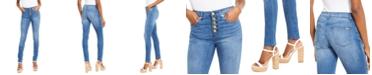Michael Kors Petite Button-Fly Jeans